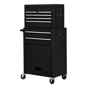 Costway Rolling Cabinet Storage Chest Box Garage Toolbox-Black