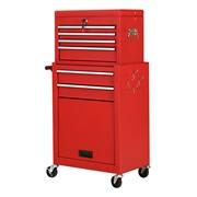 Costway Rolling Cabinet Storage Chest Box Garage Toolbox Organizer-Red