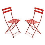 Fermob French Bistro Folding Chair - Set of 2 Pink Praline