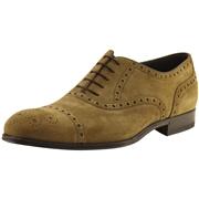 Hugo Boss Mens Caponio 50260413 Suede Fashion Oxford Shoes - Light/Pastel Brown - 12
