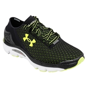 Under Armour SpeedForm Gemini Mens Training Shoes - Black/White/Yellow; 7