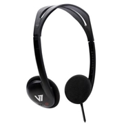V7 HA300-2NP Lightweight Stereo Headphones - Black
