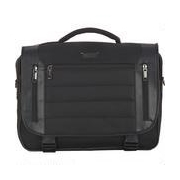 Wilsons Leather Kenneth Cole Keystone Flapover Fabric Laptop Case w/ Faux-Leather Trim