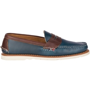 Mens Sperry Gold Cup Handcrafted in Maine Penny Loafer Navy/Brown, Size 10M