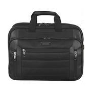 Wilsons Leather Kenneth Cole Keystone Double-Gusset Easy Scan Fabric Laptop Case w/ Faux-Leather Trim