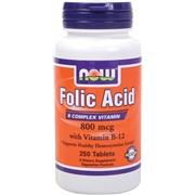 NOW Folic Acid 250 Tablets - Womens Health
