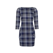 Dorothy Perkins Blue and White Check Print Tunic