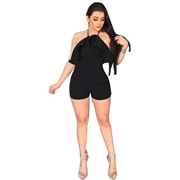 21 geekbuy Women Tight Suspenders Strapless Dress Bodysuit for Evening Party Night Club Size M-Black