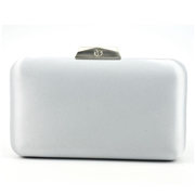 22 geekbuy Women Clutches Bag Ladies Shoulder Chain Tote for Party Banquet Evening Bag-Silver