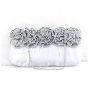 21 geekbuy Womens Rhinestone Clutch Bag Evening Bridal Wedding Fashion PHandbag - Silver