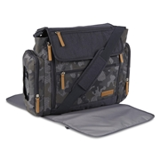 STEVENS BABY BOOM Jeep Adventurers Duffle Diaper Bag   Changing Pad - Camouflage, Black