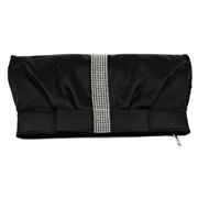 21 geekbuy CAIYUE U45 Womens Satin Clutch Bag Evening Bridal Wedding Fashion PHandbag - Black