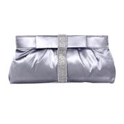 21 geekbuy CAIYUE U45 Womens Satin Clutch Bag Evening Bridal Wedding Fashion PHandbag - Silver