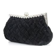 22 geekbuy Women Rhinestone Handbag Wedding Party Evening Clutches Bag Wallet Purse Messenger Phone Bag-Black