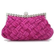 22 geekbuy Women Rhinestone Handbag Wedding Party Evening Clutches Bag Wallet Purse Messenger Phone Bag-Rose Red