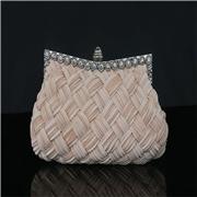 22 geekbuy Women Rhinestone Handbag Wedding Party Evening Clutches Bag Wallet Purse Messenger Phone Bag-Beige