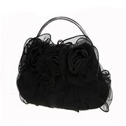 21 geekbuy Womens Satin Lace Clutch Bag Evening Bridal Wedding Fashion PHandbag M53T - Black