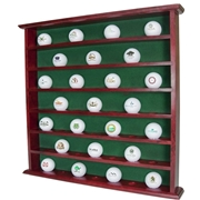 49 GOLF BALL DISPLAY CABINET MAHOGANY
