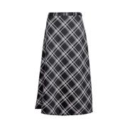 Dorothy Perkins Black Check Print Midi Skirt