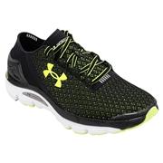 Under Armour SpeedForm Gemini Mens Training Shoes - Black/White/Yellow; 7.0