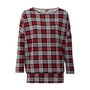 *Izabel London Red Checked Print Top